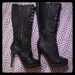 Aldo black knee high Boots